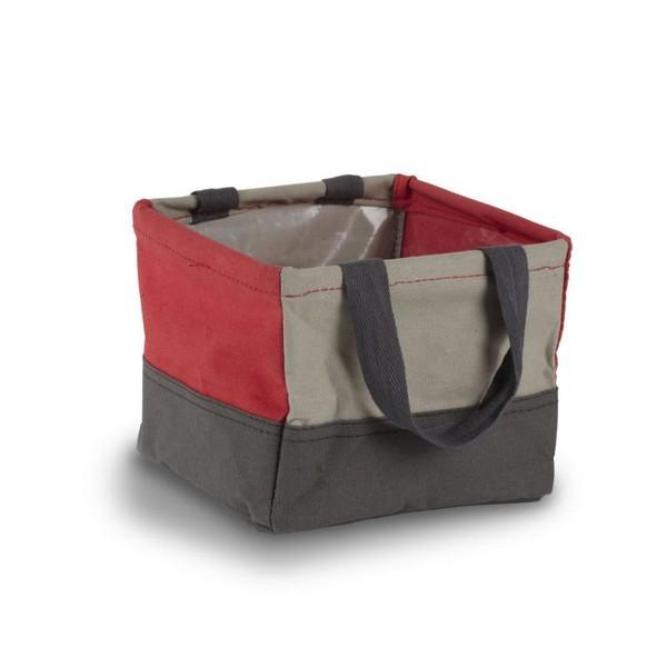 panier tissu rangement salle de bains rouge gris umbra crunch 088100 909. Black Bedroom Furniture Sets. Home Design Ideas