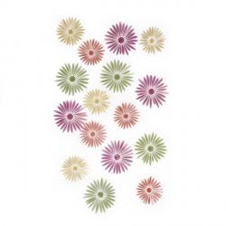 Fleurs murales 3D umbra savannah