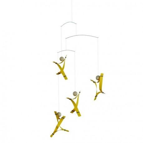 Mobile suspendu décoration flensted free mind jaune