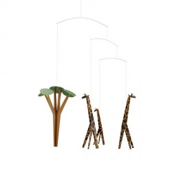 Mobile décoration chambre enfant flensted girafe