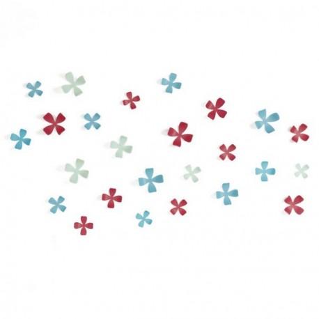 Décor mural fleurs 3D multicolores umbra wallflower