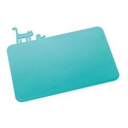 Petite planche à découper koziol pi:p turquoise