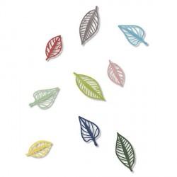Décoration murale 3D feuilles multicolores natura