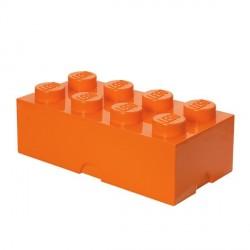 Lego géant boîte 8 plots orange