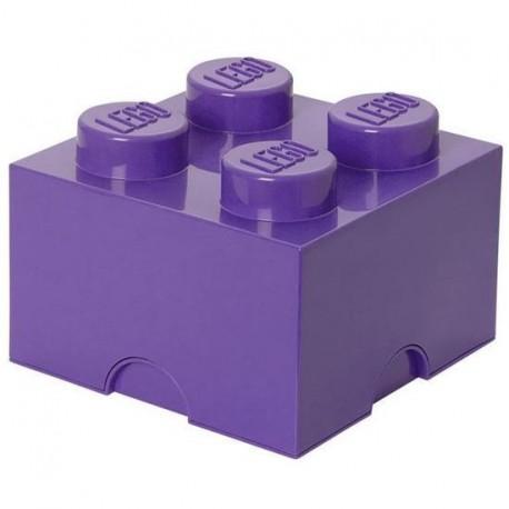 Lego boîte géante rangement 4 plots prune