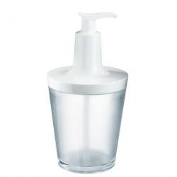 Distributeur de savon translucide blanc koziol flow