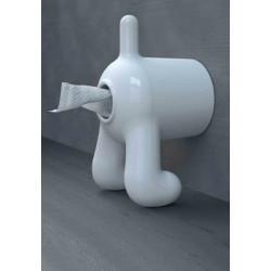 Dérouleur papier wc rigolo chien D Dog propaganda blanc