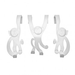 Patères pour porte singes blancs present time HY0111WH