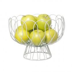 Corbeille à fruits en fil métallique wired present time blanc