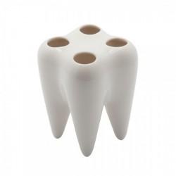 Porte brosses à dents original propaganda tooth blanc