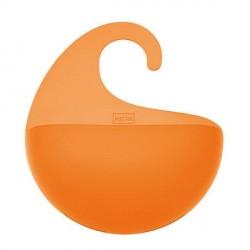 Petit panier de douche koziol surf orange translucide