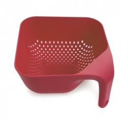 Passoire rouge design carrée joseph joseph