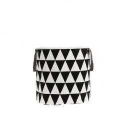 Panier à linge design noir et blanc ferm living triangle basket