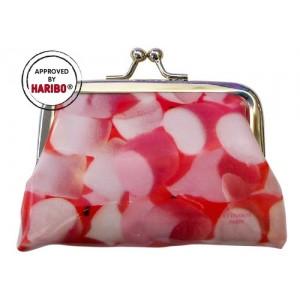 Porte-monnaie rose bonbons chamallows