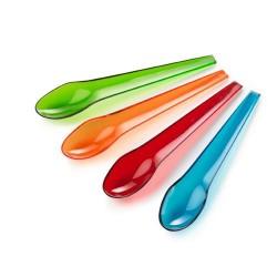 Petites cuillères multicolores plastique authentics