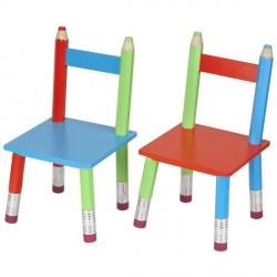 Chaise enfant originale crayons la chaise longue