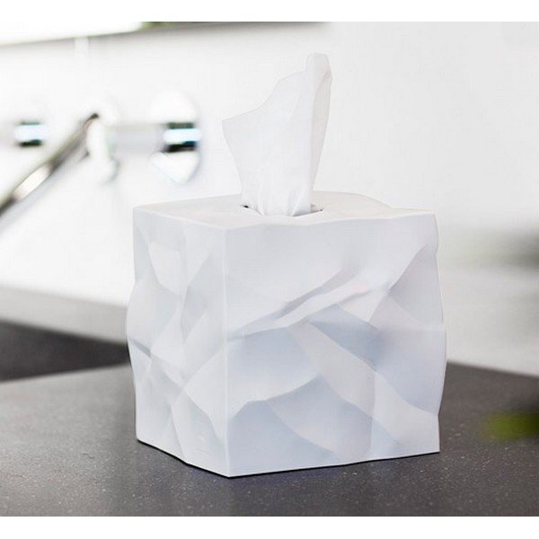 Bo te mouchoirs carr e design blanche wipy essey - Boite a mouchoir design ...