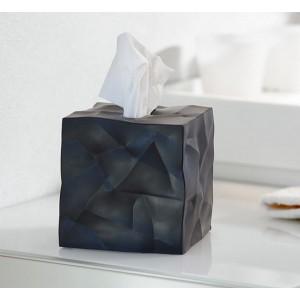 Boîte à mouchoirs carrée design noire wipy essey