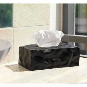 Boîte à mouchoirs rectangulaire noire design wipy essey