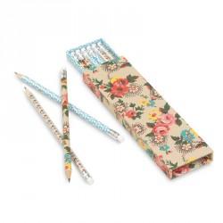 Coffret de 6 crayons à papier vintage atomic soda lalé flora