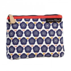 Trousse maquillage atomic soda Mr and Mrs Clynk fleurs bleues