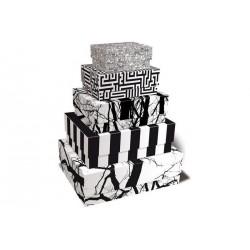 Boîtes de rangement en carton déco black & white remember