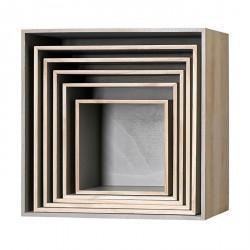 Cubes ètagères en bois bloomingville