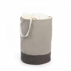 Panier à linge gris en tissu umbra crunch