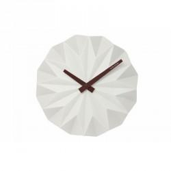 Horloge murale design relief blanche origami karlsson