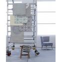 Tapis salon design original gris motifs géométriques bloomingville