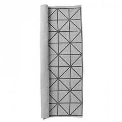 Bloomingville Rug geometric pattern grey 195 x 135 cm
