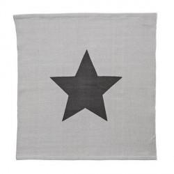 Tapis carré design original gris avec étoile bloomingville