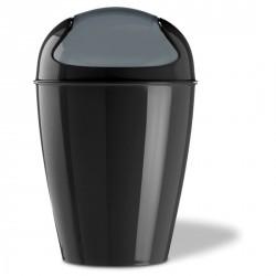 Poubelle cuisine design noire koziol dell xl