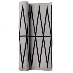Tapis coton gris motif géométrique bloomingville 60 x 120 cm
