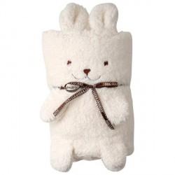 Couverture bébé lapin blanche la chaise longue