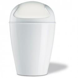 Poubelle design salle de bain blanc koziol dell S