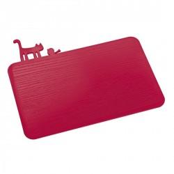 Planche à découper cuisine rouge koziol pi:p