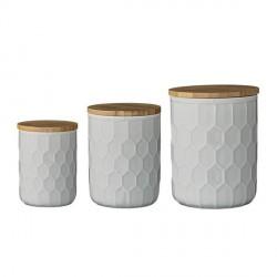 Boîte de cuisine décorative en céramique bloomingville