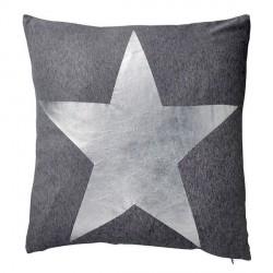 Coussin étoile argent bloomingville star