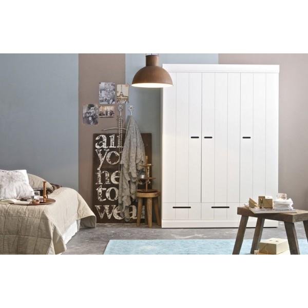 Excellent armoire en bois massif pas cher with armoire en for Armoire cuisine pas cher