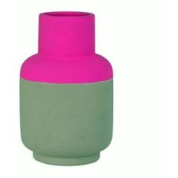 Present time native vase pink fluo