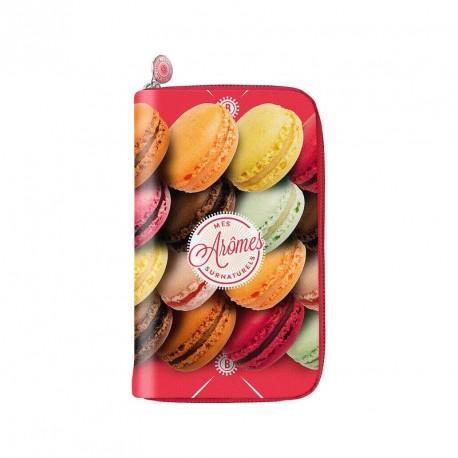Portefeuille macarons bonjour mon coussin aromes surnaturels