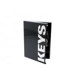 Boîte à clés murale design noire present time typographic