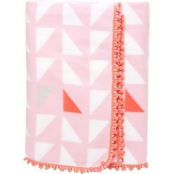 Plaid couverture polaire rose present time triangles