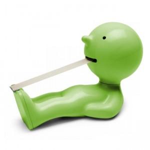 Dérouleur de ruban adhésif original rigolo Mr P One Man Try vert