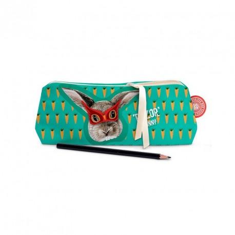 Trousse à crayons rigolotte bonjour mon coussin bunny razor