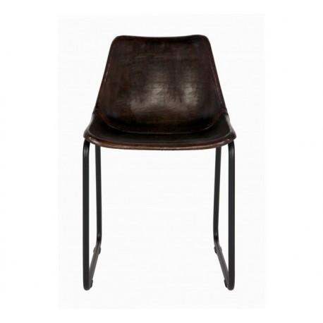chaise cuir v ritable vintage woood. Black Bedroom Furniture Sets. Home Design Ideas