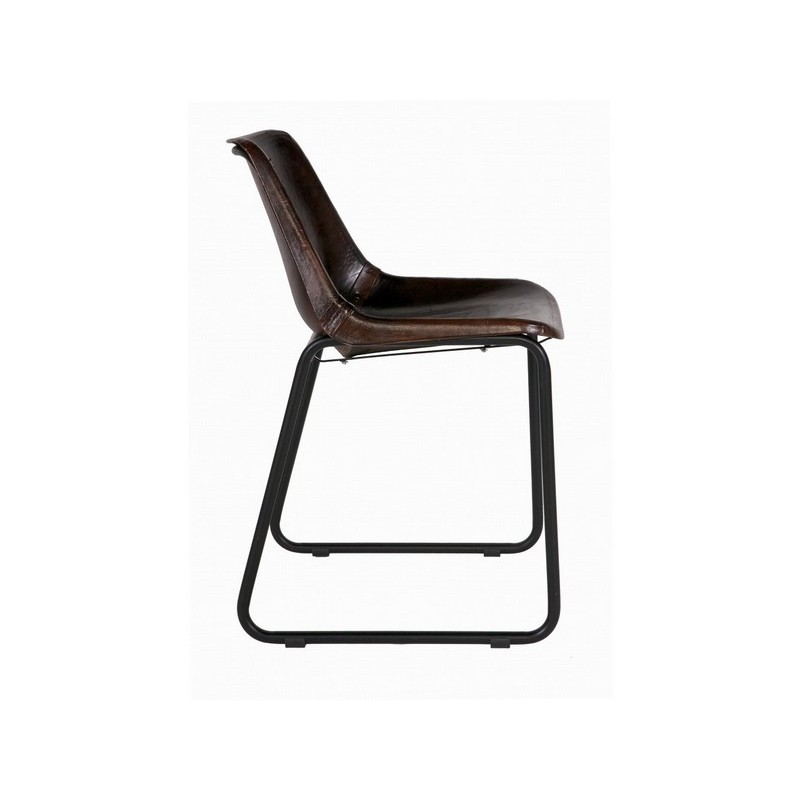 chaise en cuir veritable chaise cuir vritable gily taupe structure nickel noir with chaise en. Black Bedroom Furniture Sets. Home Design Ideas