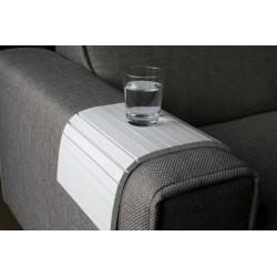 Plateau tablette accoudoir canapé flex blanc