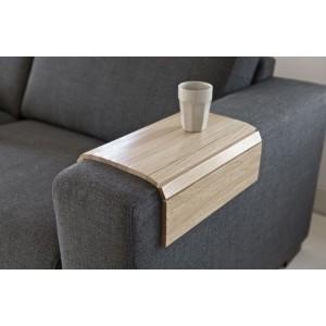 Tablette pour accoudoir de canapé bois chêne flex